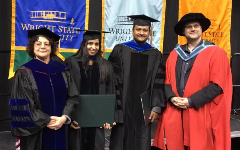 At the Fall 2015 Commencement